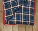 Washed Red with Colonial Navy | Watson Pile Sherpa Blanket | Inside