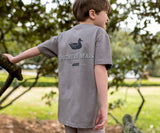 Dark Gray | Youth Trademark Duck Tee | Short Sleeve T-Shirt | Kids Pocket Tee