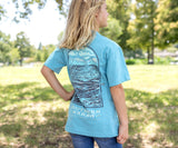 Washed Barbados Blue | Youth Relax & Explore Tee | Canoe