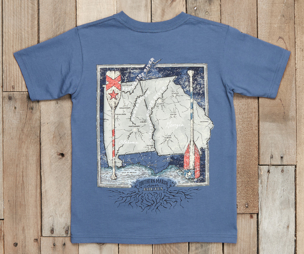 Youth River Route Collection Tee - Alabama & Georgia