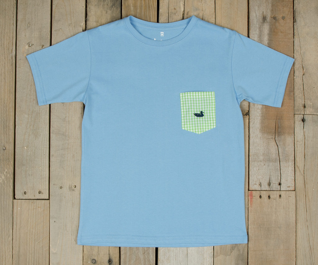 Youth Stewart Pocket Tee - Gingham