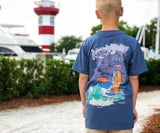 Bluestone | Youth Southern Horizons Tee | Lighthouse | Lifestyle | Back