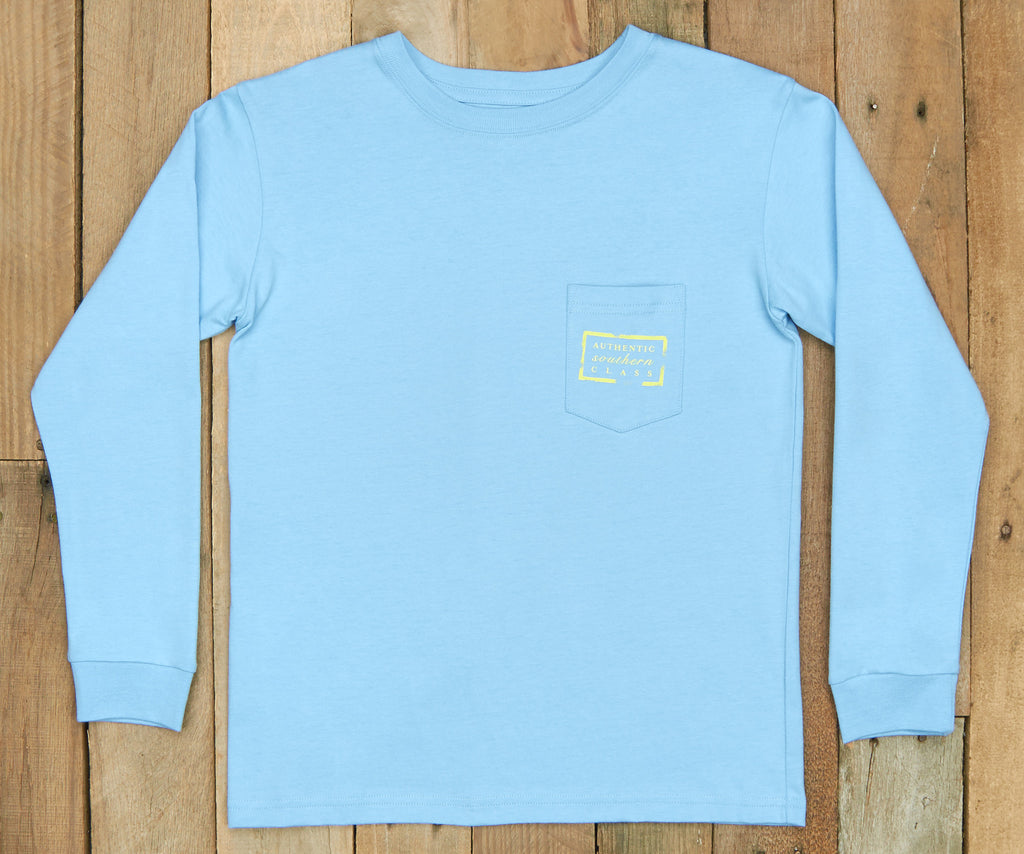 Breaker Blue | Youth Authentic Tee | Long Sleeve T-Shirt | Kids Southern Duck Shirt