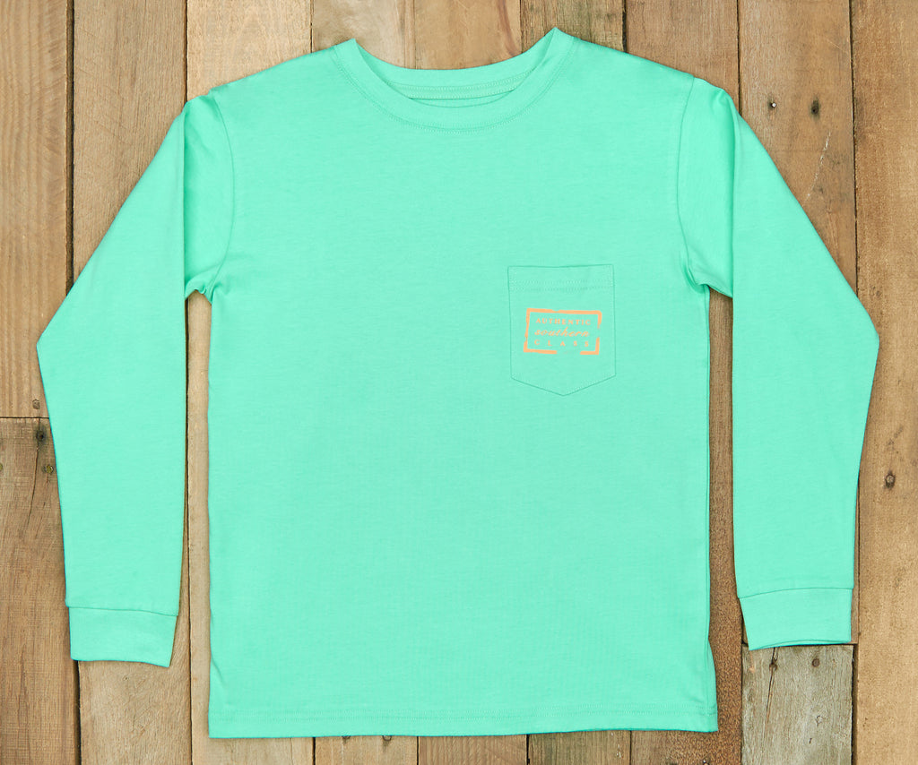 Bimini Green | Youth Authentic Tee | Long Sleeve T-Shirt | Kids Southern Duck Shirt