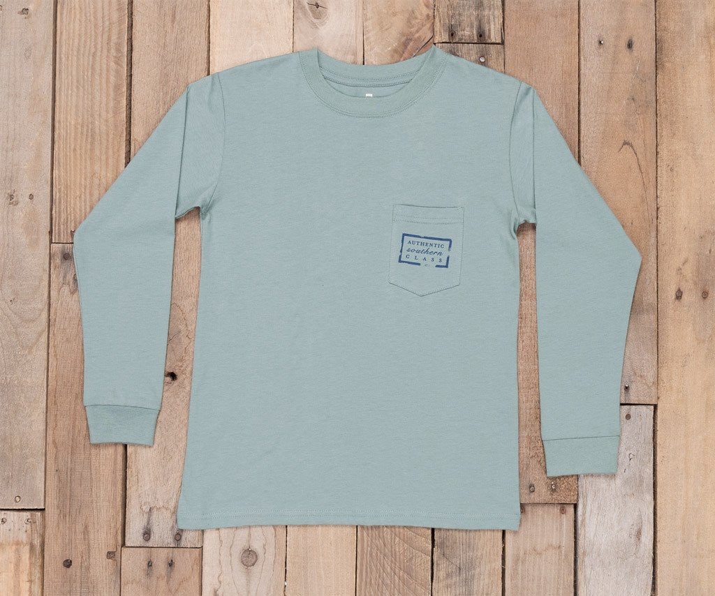 Burnt Sage | Youth Authentic Tee | Long Sleeve T-Shirt | Kids Southern Duck Shirt