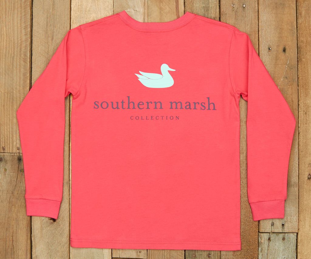 Strawberry Fizz | Youth Authentic Tee | Long Sleeve T-Shirt | Kids Southern Duck Shirt