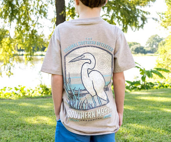 Youth Vistas Egret Tee