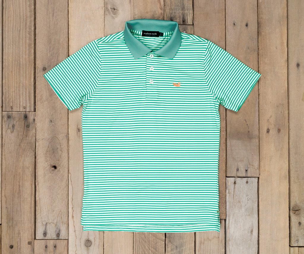 Youth Bermuda Performance Polo - Striped