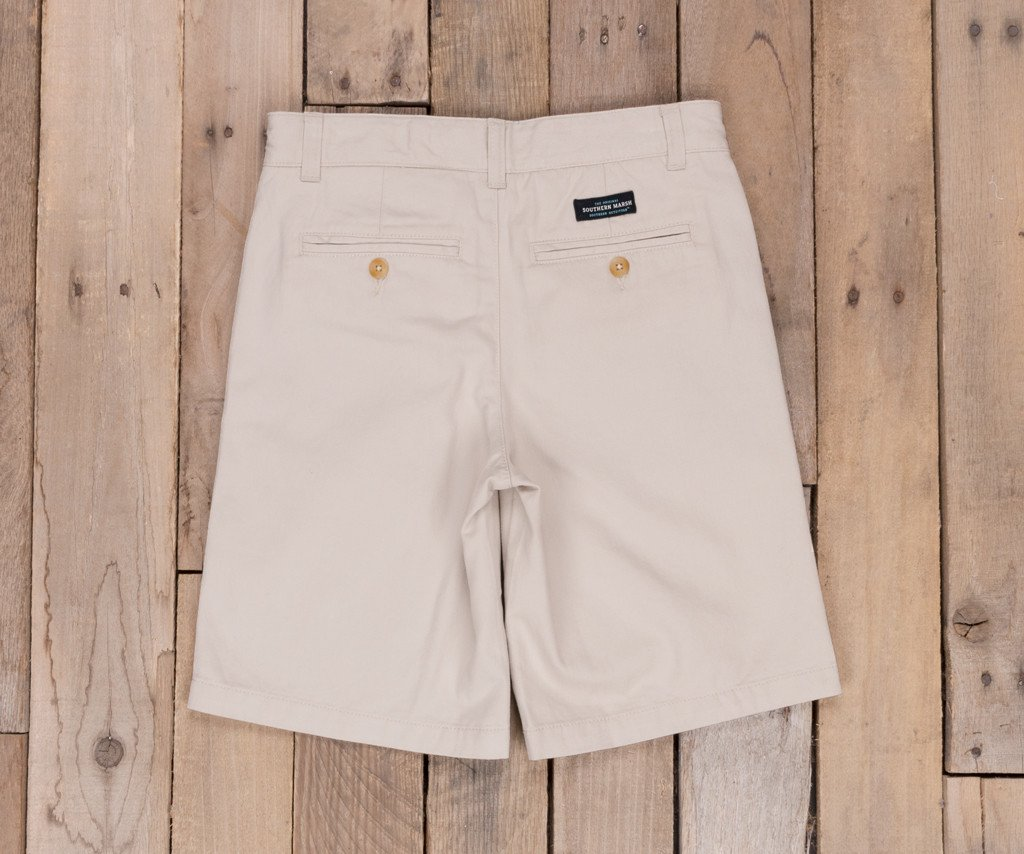 Audubon  Tan | Youth Regatta Short | Back