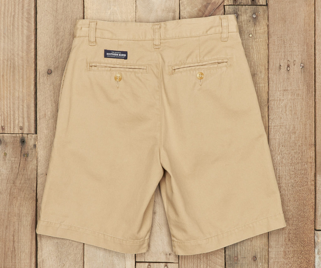 Khaki Chino | Youth Regatta Short | Back