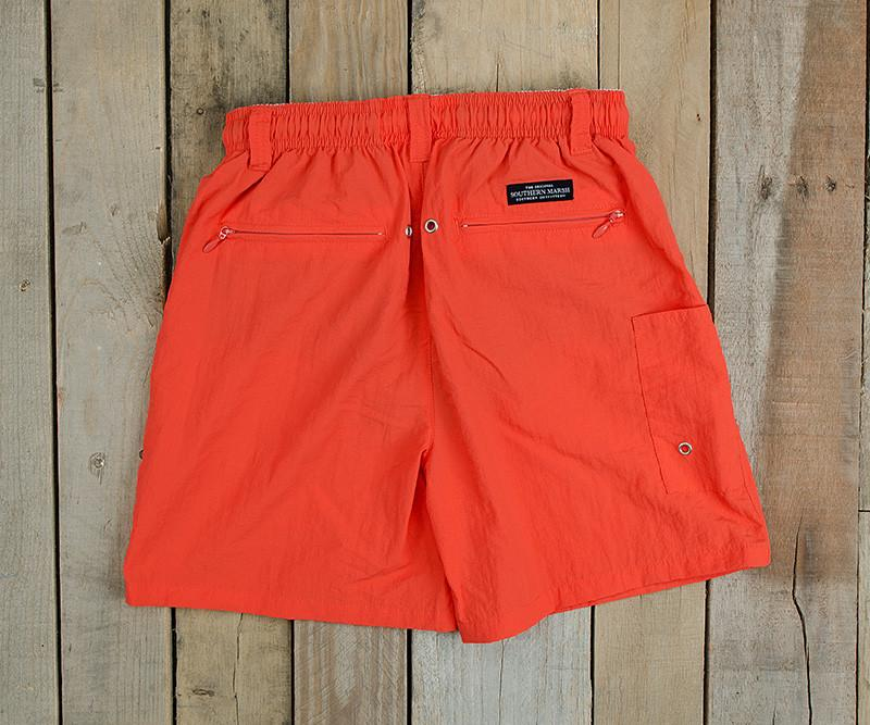 Neon Coral | Youth Dockside Swim Trunk | Youth Swim Shorts