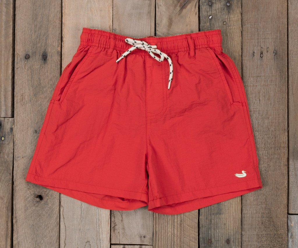 Red | Youth Dockside Swim Trunk | Youth Swim Shorts
