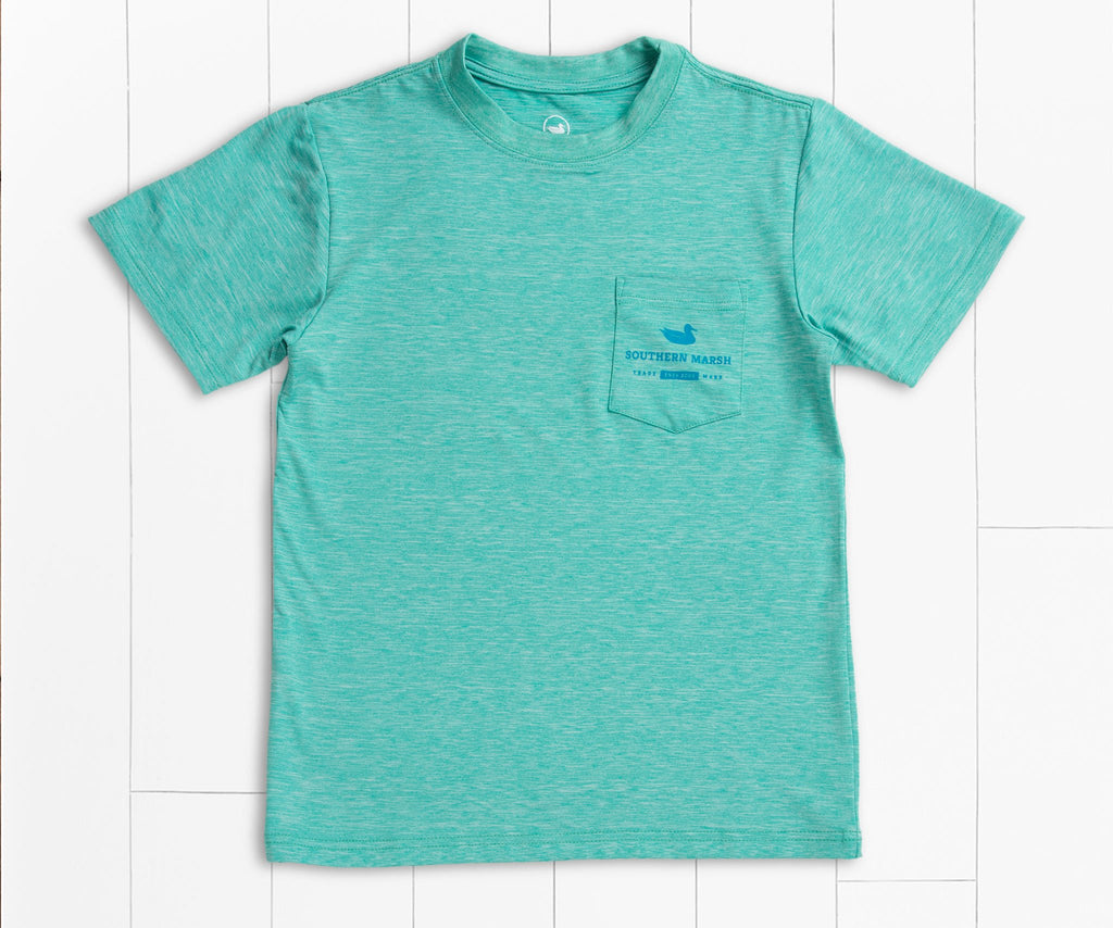 Mint | Youth FieldTec™ Performance Tee | Mahi | Youth Short Sleeve T-Shirt | Kids Fishing Shirt