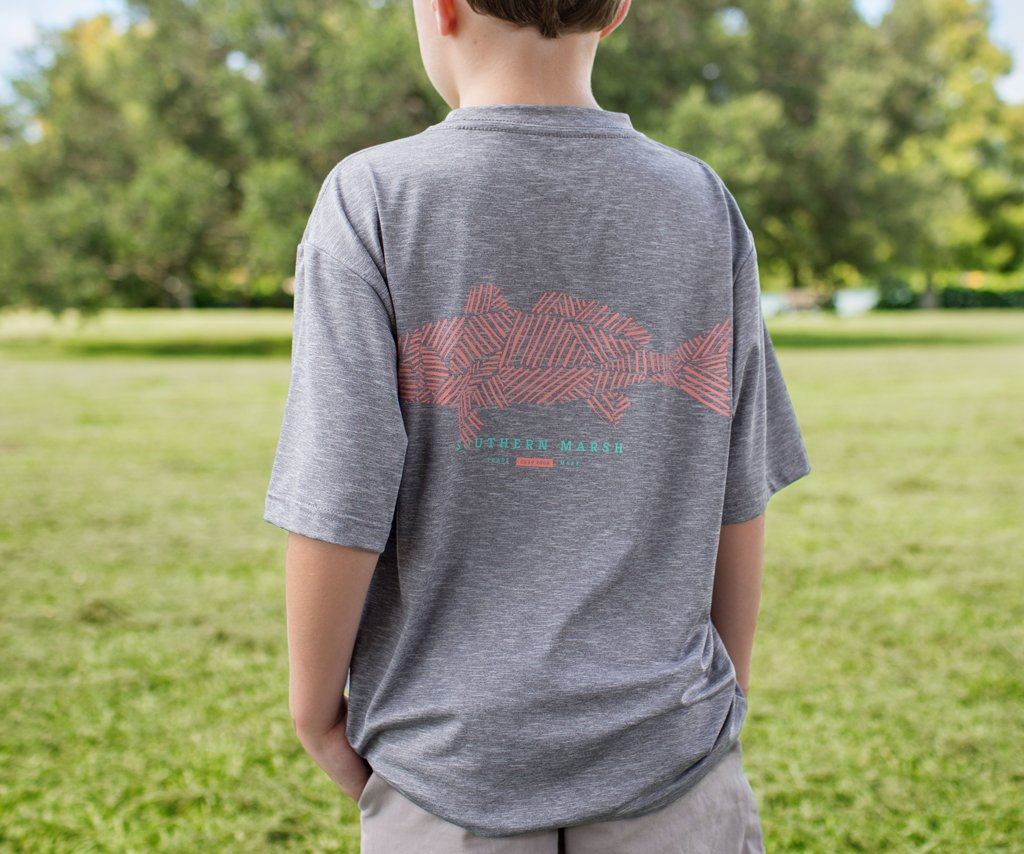 Youth FieldTec™ Performance Tee - Redfish