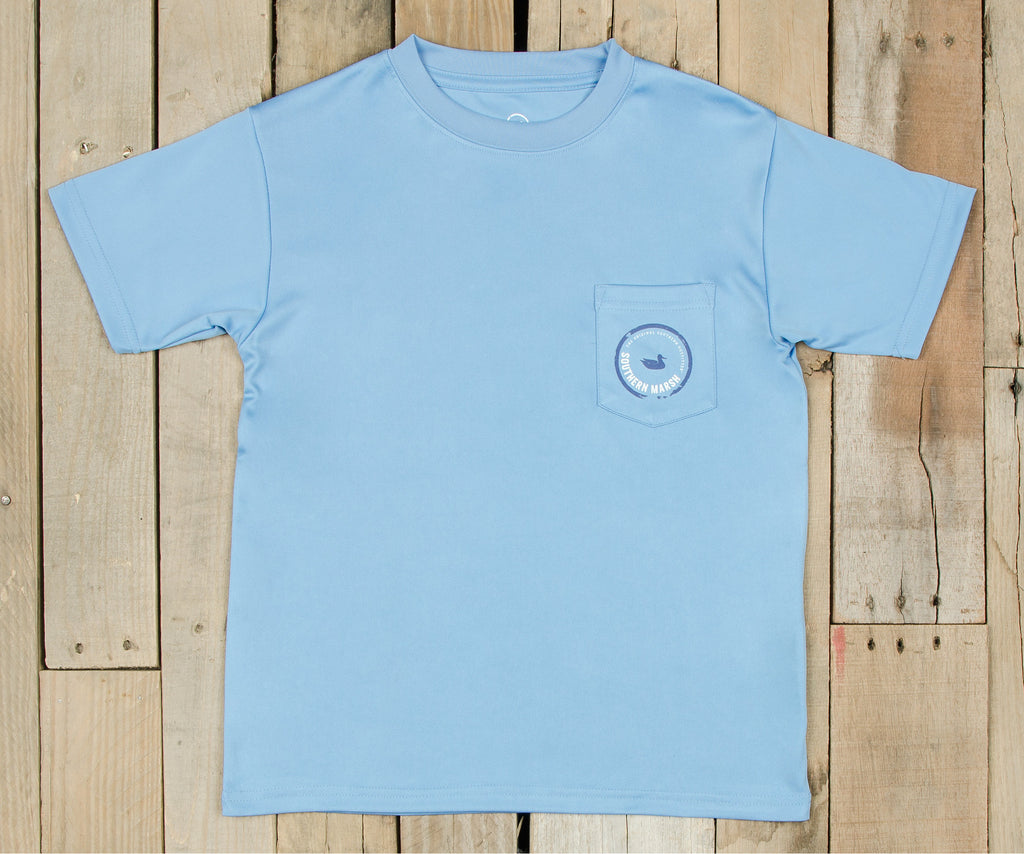 Youth FieldTec™ Outfitter Collection Tee | Tuna | Breaker Blue