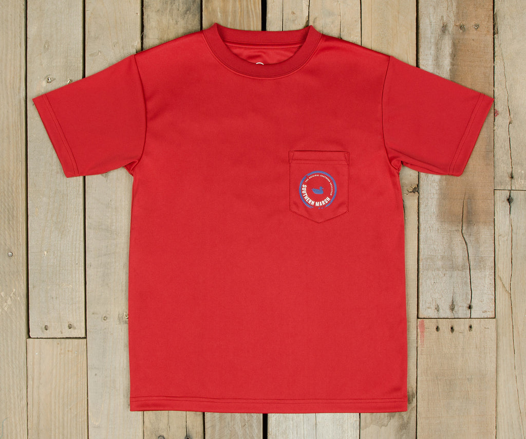 Youth FieldTec™ Outfitter Collection Tee | Tuna | Crimson