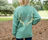 Washed Hunter Green | Youth Origins Rack Tee | Long Sleeve