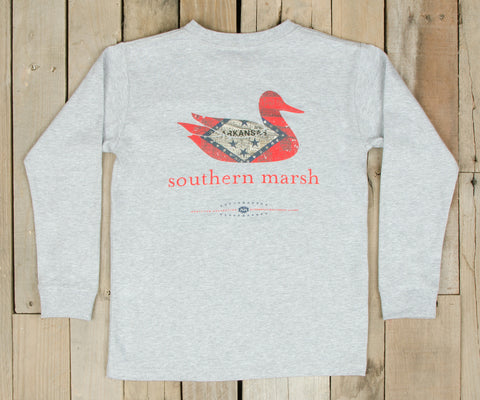 Youth Authentic Heritage Tee - Arkansas - Long Sleeve