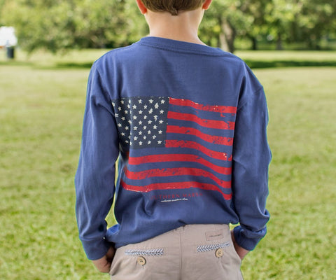Youth Vintage Flag - Long Sleeve