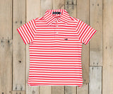 Red and White Newberry | Youth Bermuda Performance Polo | Newberry
