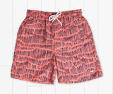 Youth Dockside Swim Trunk - Falling Lines