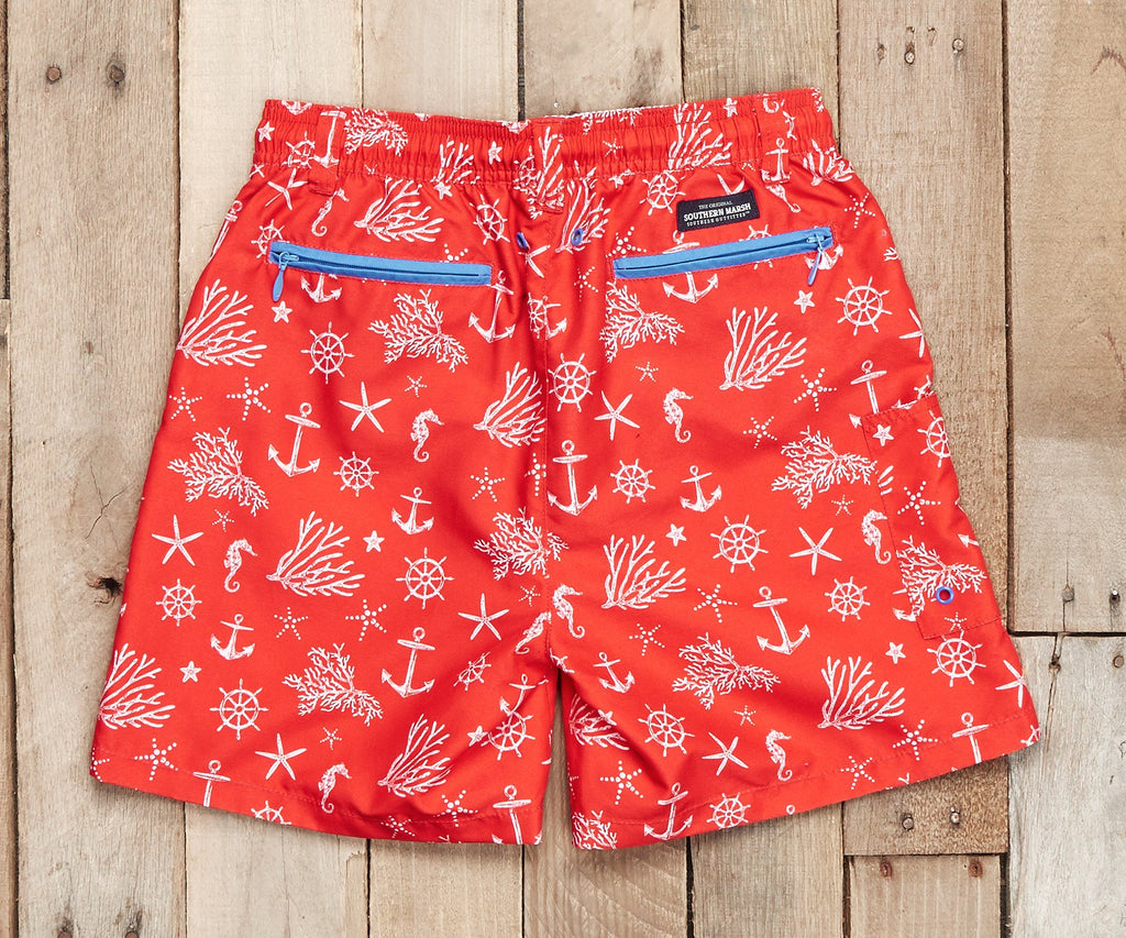 Youth Dockside Swim Trunk - Anchor