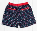 Navy and  Red | Youth Dockside Swim Trunk | Paddles | Youth Swim Shorts