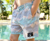 Burnt Taupe and Peach | Youth SEAWASH™ Shoals Swim Trunk | Mayan Watercolor