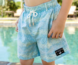 Blue and Lime | Youth SEAWASH™ Shoals Swim Trunk | Mayan Watercolor