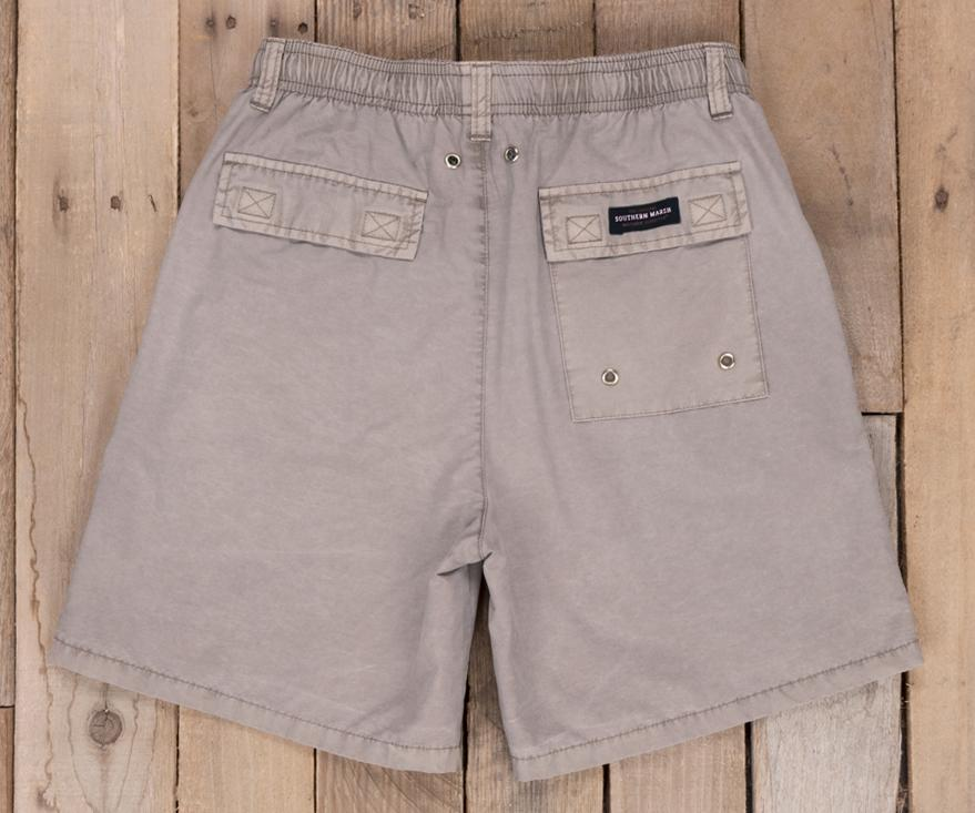 Burnt Taupe Shoals | Youth SEAWASH™ Shoals Swim Trunk | Back