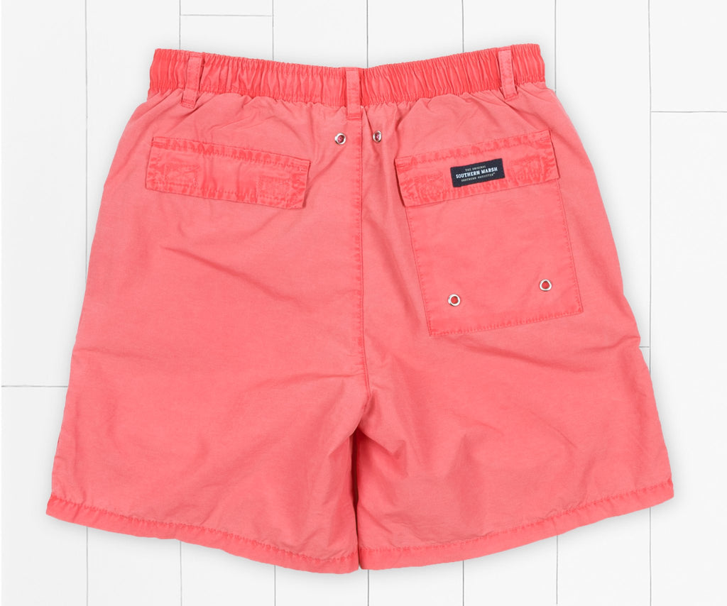 Washed Red Shoals | Youth SEAWASH™ Shoals Swim Trunk | Front