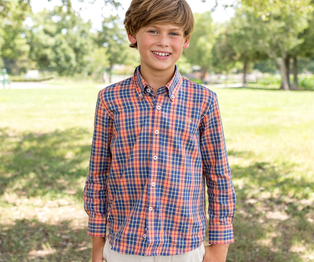 Youth King Windowpane Dress Shirt