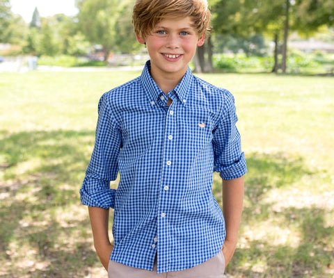 Youth Memphis Gingham Dress Shirt