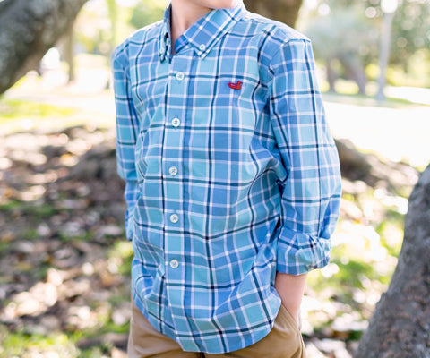 Youth Brevard Plaid Dress Shirt