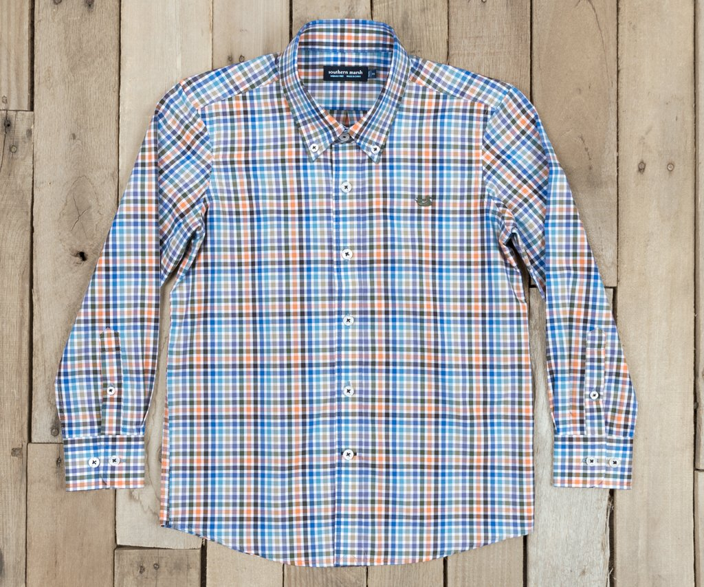 Youth Juban Check Dress Shirt