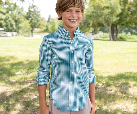 Youth Nashville Gingham Dress Shirt