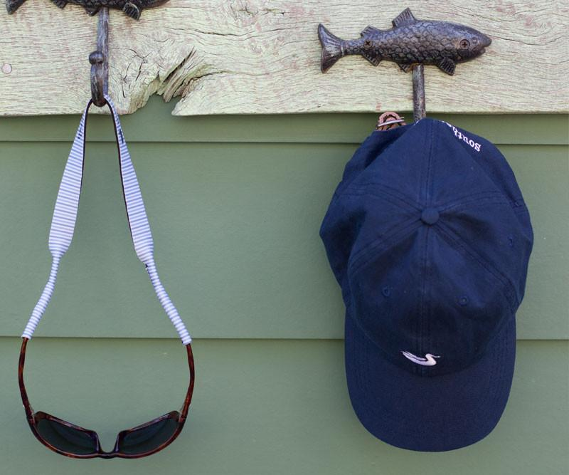 Navy Hat with White Duck | Southern Marsh Signature Hat and Sunglass Straps