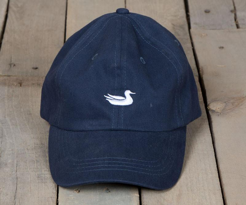 Navy Hat with White Duck | Southern Marsh Signature Hat