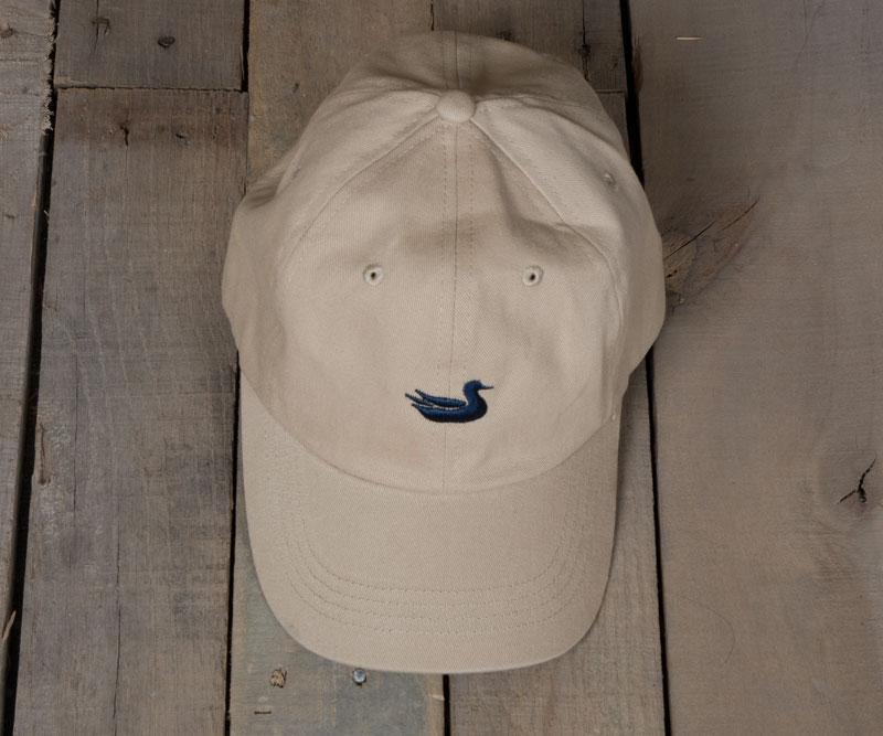 Tan Hat with Navy Duck
