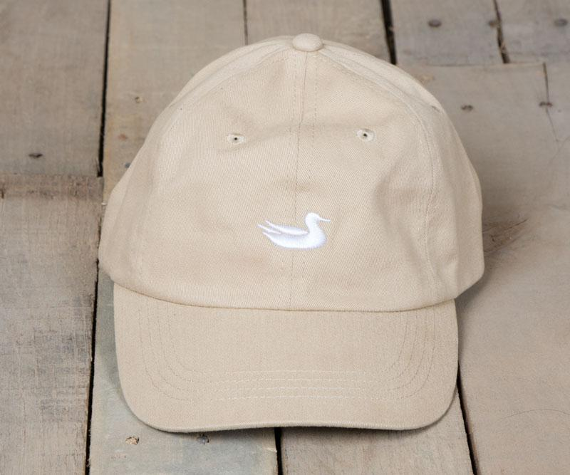 Tan Hat with White Duck | Southern Marsh Signature Hat