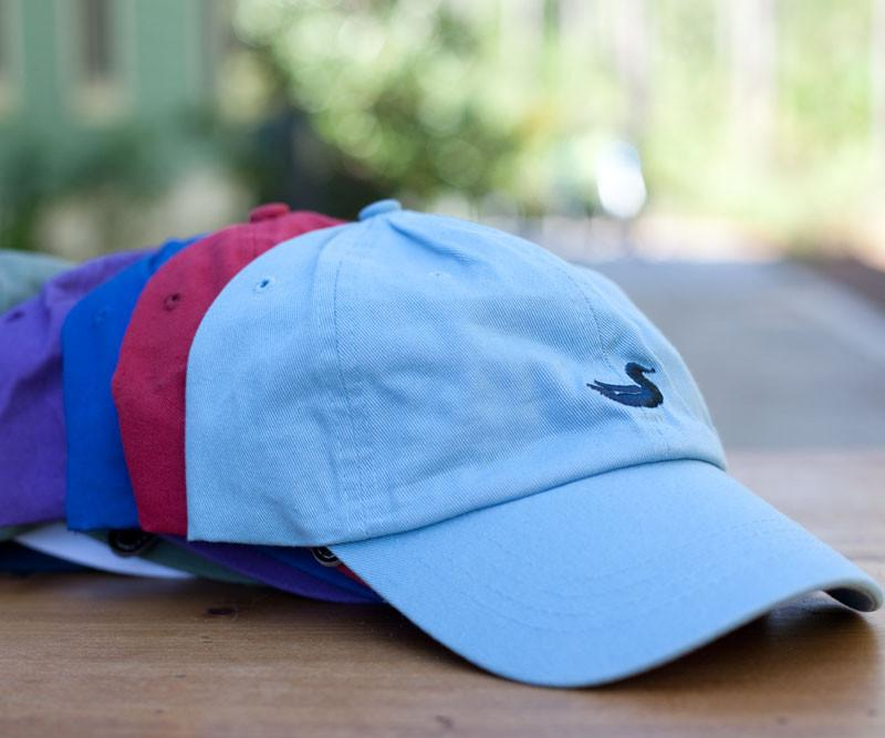 Light Blue Hat with Navy Duck | Southern Marsh Signature Hats