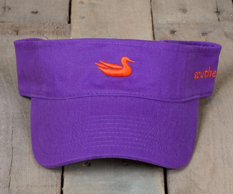 Royal Purple Visor with Orange Duck | Signature Visor