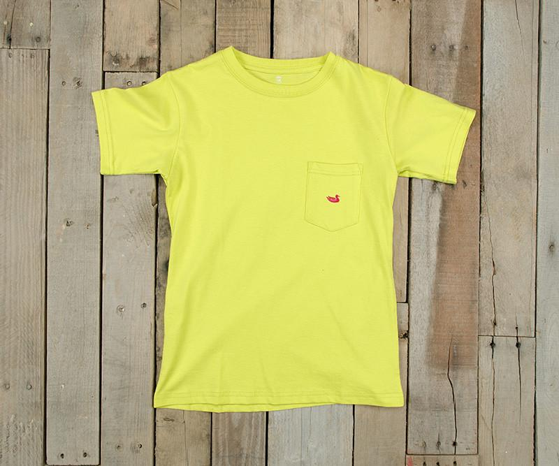 Youth Embroidered Pocket Tee