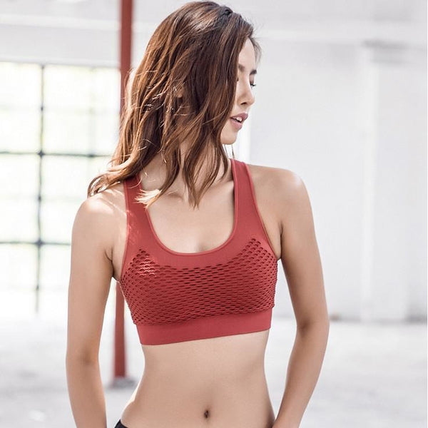 Racerback Wireless Padded High Impact Training Sports Bra ISB105-1