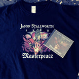 Masterpeace CD and T-shirt bundle | Jason Stallworth | Melodic Metal Music