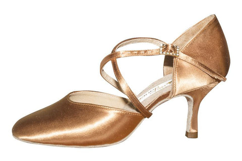 AIDA Eva Flare Heel-Side View | SM Dance Fashion