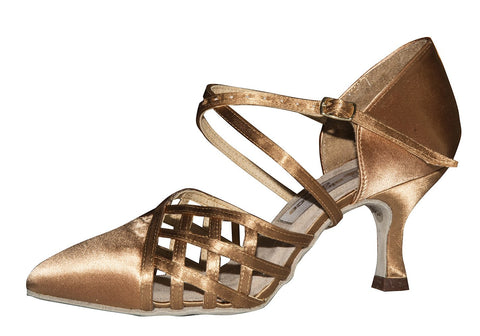 AIDA Veronika Flare Heel-Side View | SM Dance Fashion