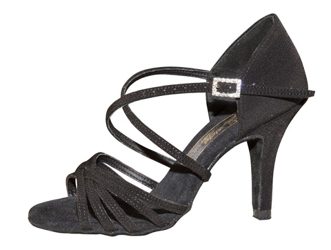 AIDA Black Karina Slim Heel-Side View | SM Dance Fashion