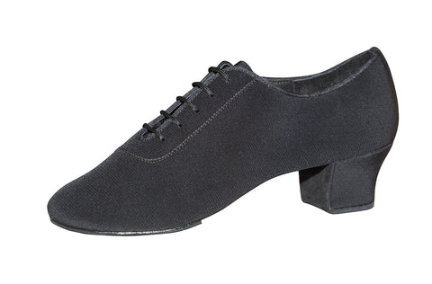 AIDA Black Crepe Satin Tornsberg-Side View | SM Dance Fashion