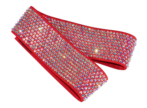 Red elastic belt with Crystals - Where to Buy Dancewear SM Dance Fashion Competition Outfit Costume